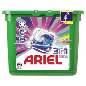 Капсули за пране Ariel 3in1 pods color 23 пранета