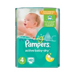 PAMPERS NEW BABY-DRY 4 8-14КГ. 42БР.