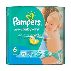 PAMPERS NEW BABY-DRY 6 15+КГ. 30БР.