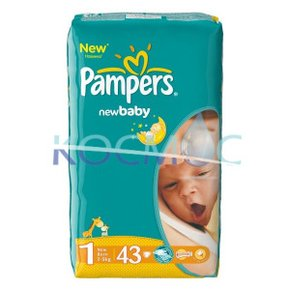 PAMPERS NEW BABY-DRY 1 2-5КГ. 43БР.