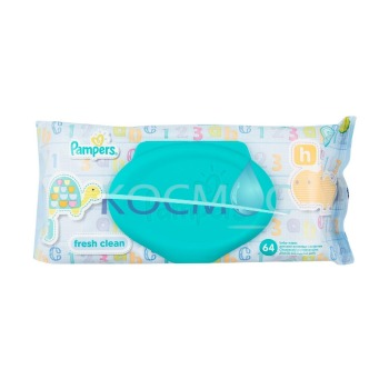 PAMPERS FRESH CLEAN МОКРИ КЪРПИ 64БР. КАПАК