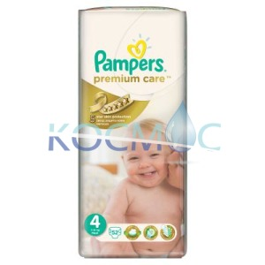 Pampers premium care 4 8-14кг. 52бр.