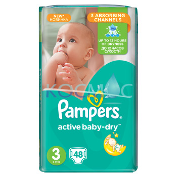 PAMPERS NEW BABY-DRY 3 5-9КГ. 48БР.