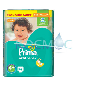 PAMPERS ПРИМА 4+ 9-16КГ. 42бр.