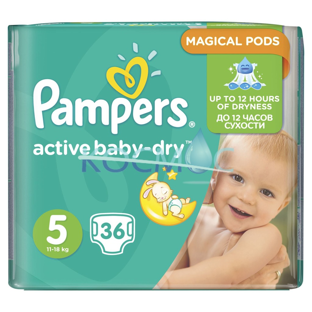 PAMPERS NEW BABY-DRY 5 11-18КГ. 36БР.