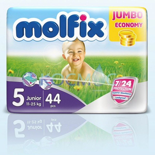 ПАМПЕРСИ MOLFIX 5 junior 11-18кг. 44бр.